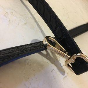 "Michael Kors Bags - Michael Kors Black Croc Leather 40"" Bag Strap"